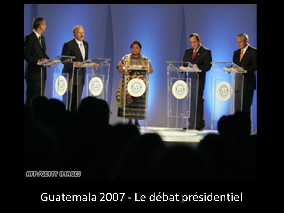 Guatemala 2007 - Le débat présidentiel