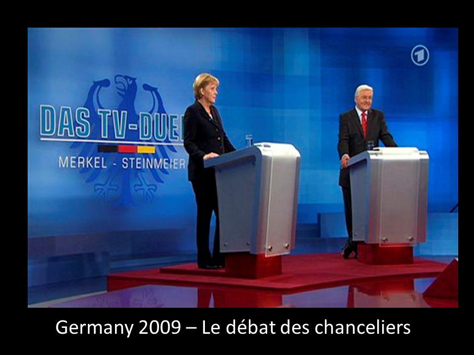 Germany 2009 – Le débat des chanceliers
