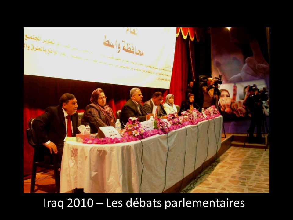 Iraq 2010 – Les débats parlementaires