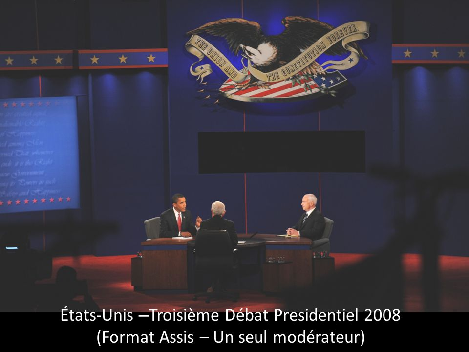 États-Unis 2008 - Le débat présidentiel à l'Hôtel de Ville (Format de mairie– Un seul modérateur)