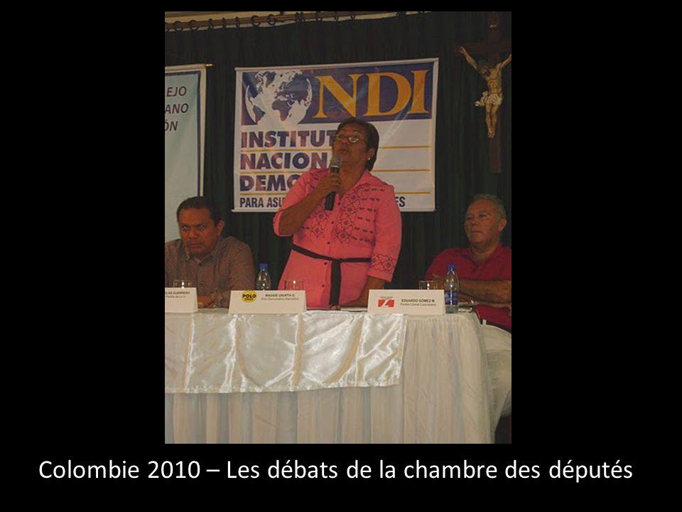 Colombie 2010 – Les débats de la chambre des députés