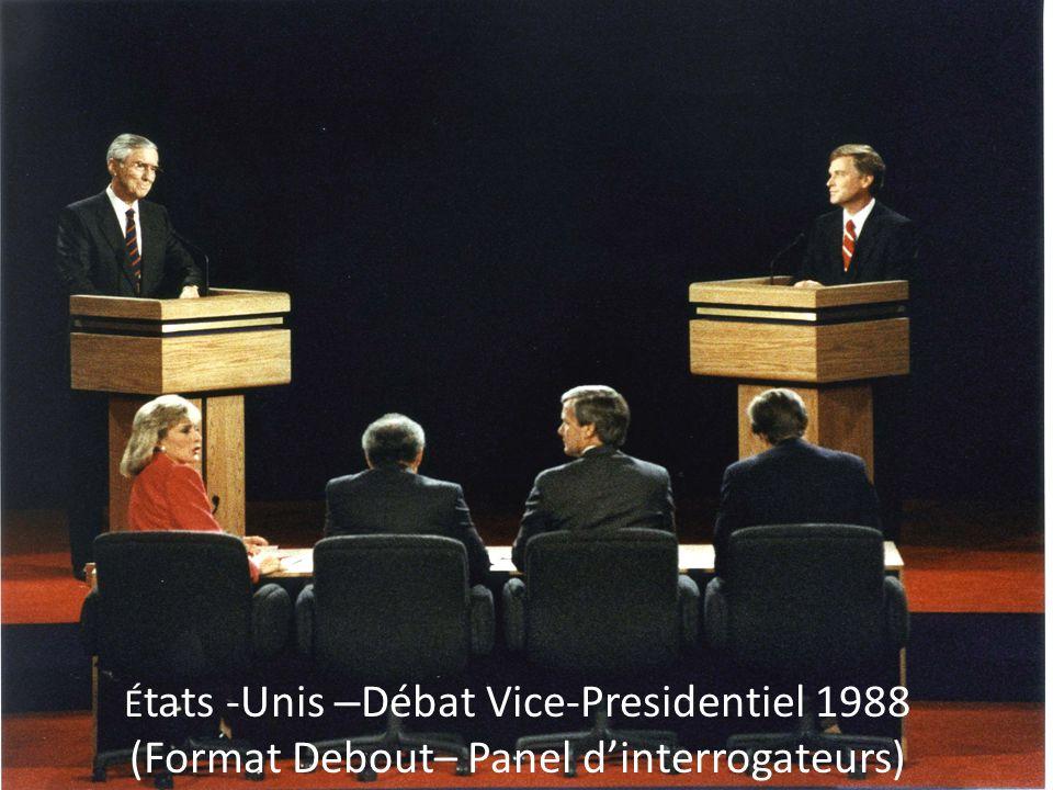 É tats -Unis – Débat Vice-Presidentiel 1988 (Format Debout– Panel d'interrogateurs)