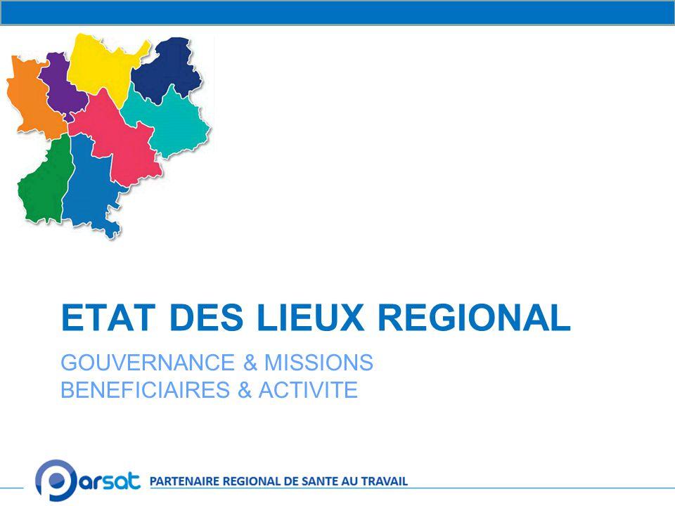 ETAT DES LIEUX REGIONAL GOUVERNANCE & MISSIONS BENEFICIAIRES & ACTIVITE