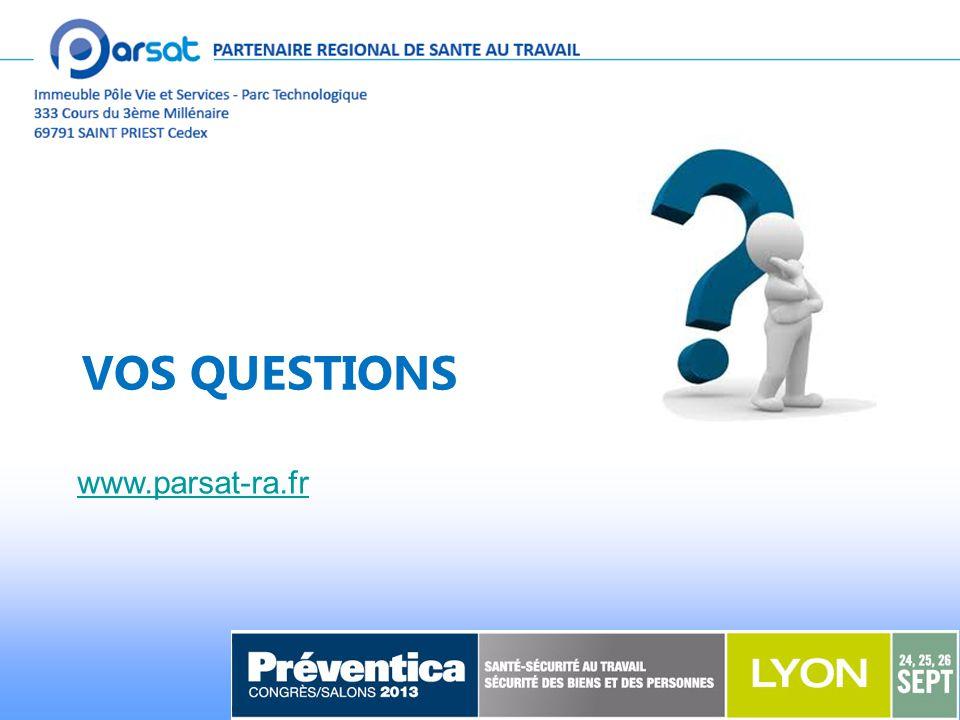 VOS QUESTIONS www.parsat-ra.fr