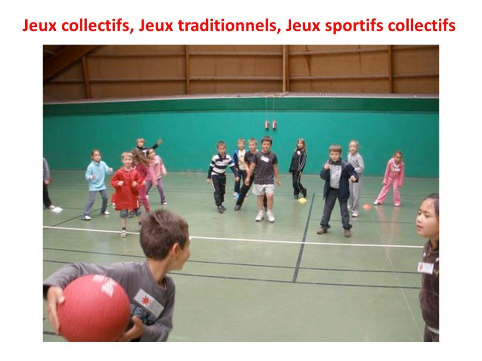 Jeux collectifs, Jeux traditionnels, Jeux sportifs collectifs