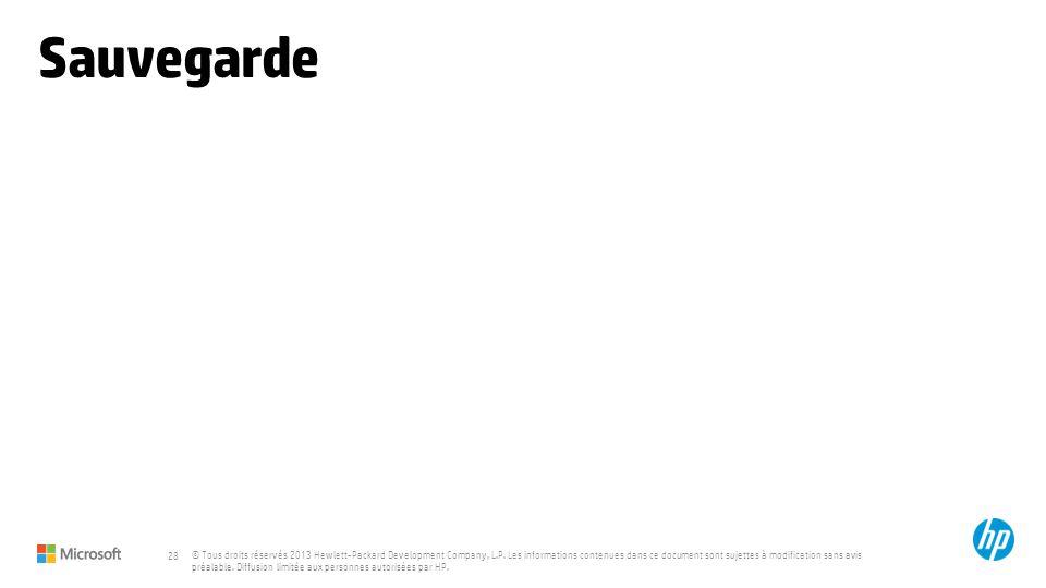 © Tous droits réservés 2013 Hewlett-Packard Development Company, L.P.