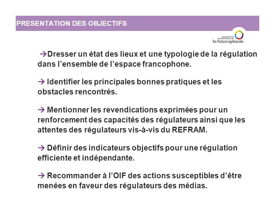 L'état de la régulation des médias dans l'espace francophone : bilan et perspectives III.