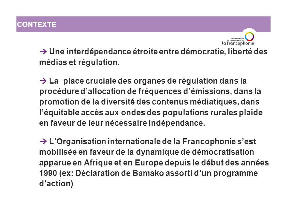 Le questionnaire de 83 entrées recense un certain nombre d'informations essentielles pour chacune des instances de régulation.