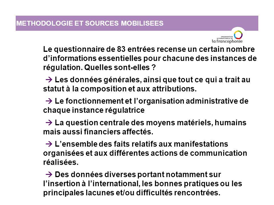 L'état de la régulation des médias dans l'espace francophone : bilan et perspectives IV.