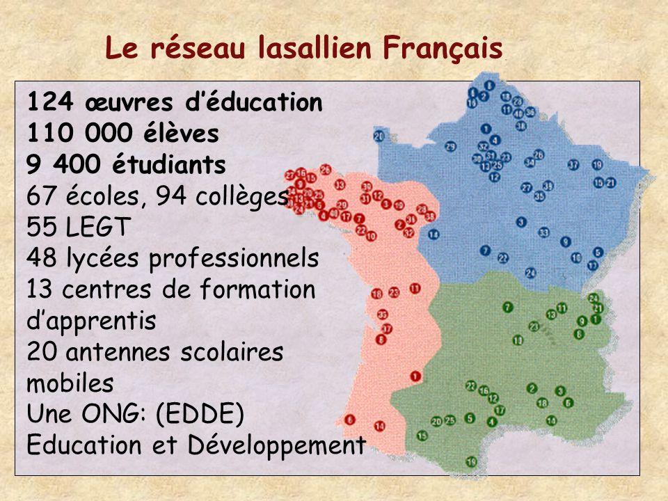 Le réseau lasallien Français.