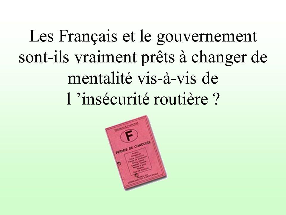 Les Français et le gouvernement sont-ils vraiment prêts à changer de mentalité vis-à-vis de l 'insécurité routière