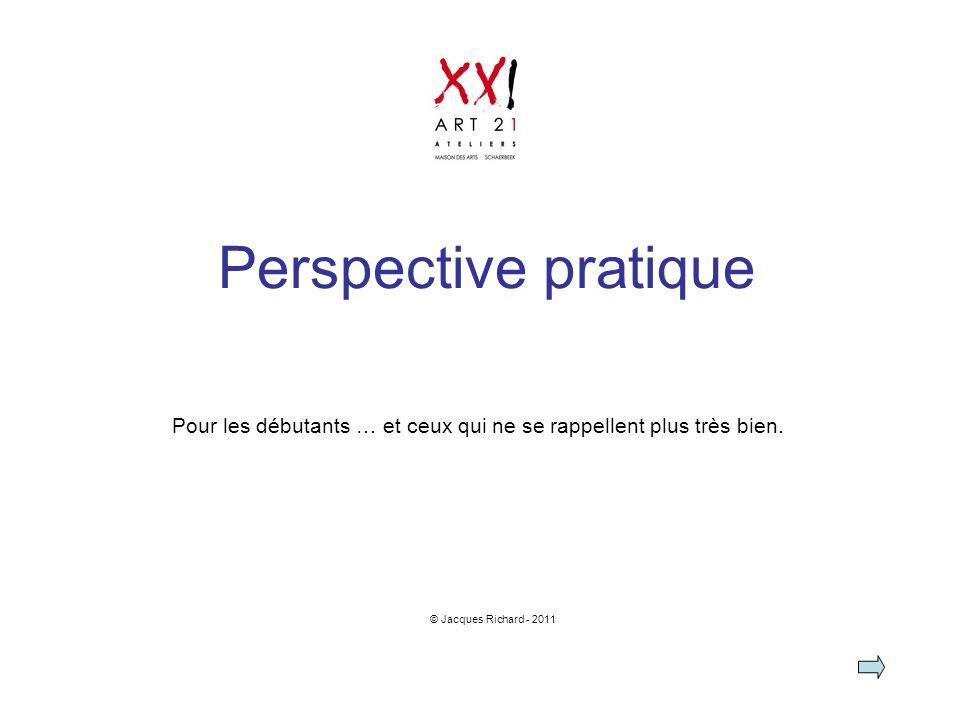 Perspective pratique Pour les débutants … et ceux qui ne se rappellent plus très bien. © Jacques Richard - 2011