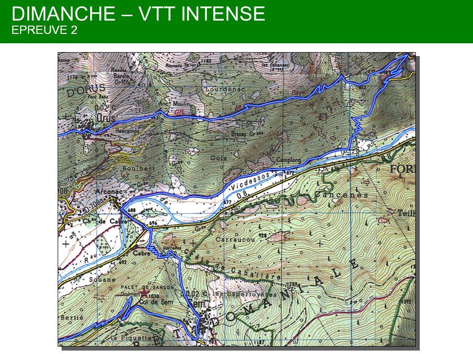 DIMANCHE – VTT DECOUVERTE EPREUVE 2 En bleu VTT jusqu'au parc a velos En rose retour VTT