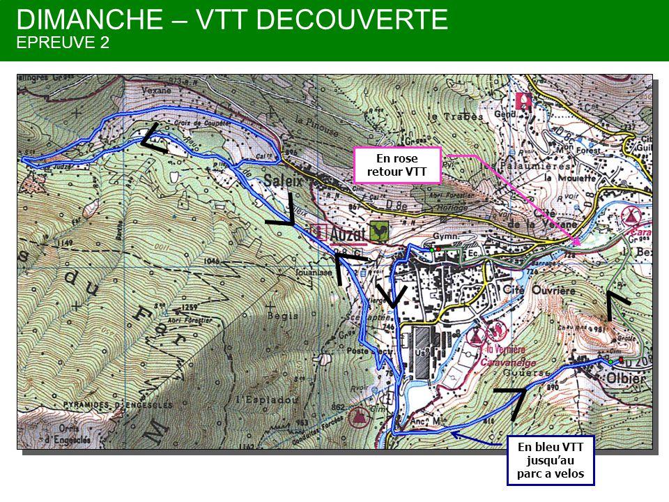 DIMANCHE – VTT DECOUVERTE EPREUVE 2