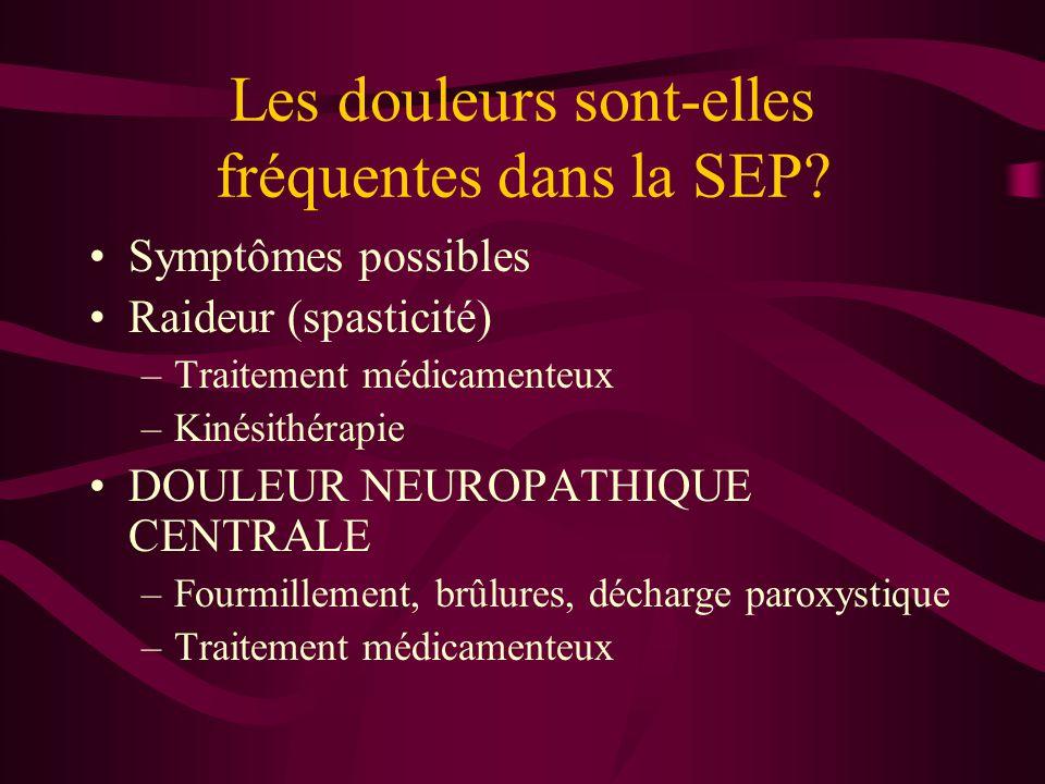 Les douleurs sont-elles fréquentes dans la SEP.