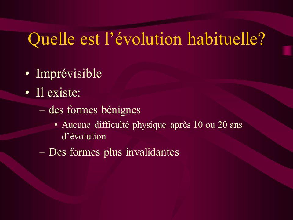 Quelle est l'évolution habituelle.