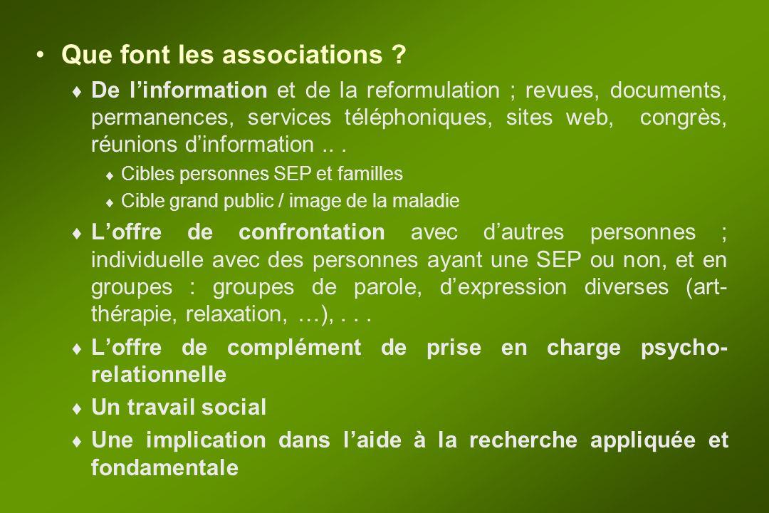 ASSOCIATIONS SEP NATIONALES Laquelle choisir .Les associations françaises –N.A.F.S.E.P.
