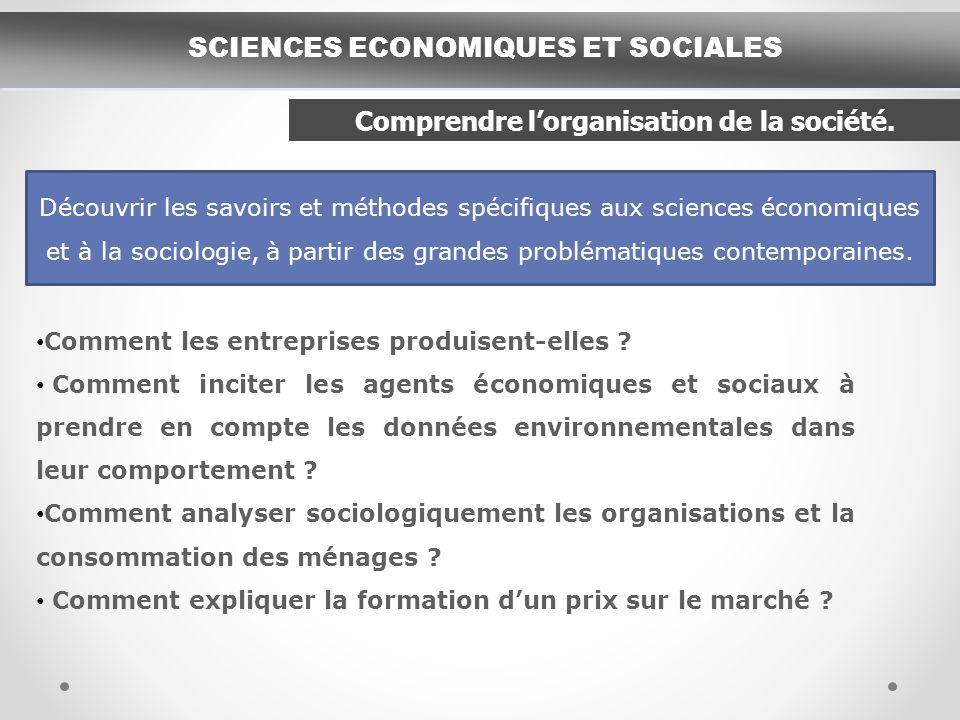 SCIENCES ECONOMIQUES ET SOCIALES Comment les entreprises produisent-elles .
