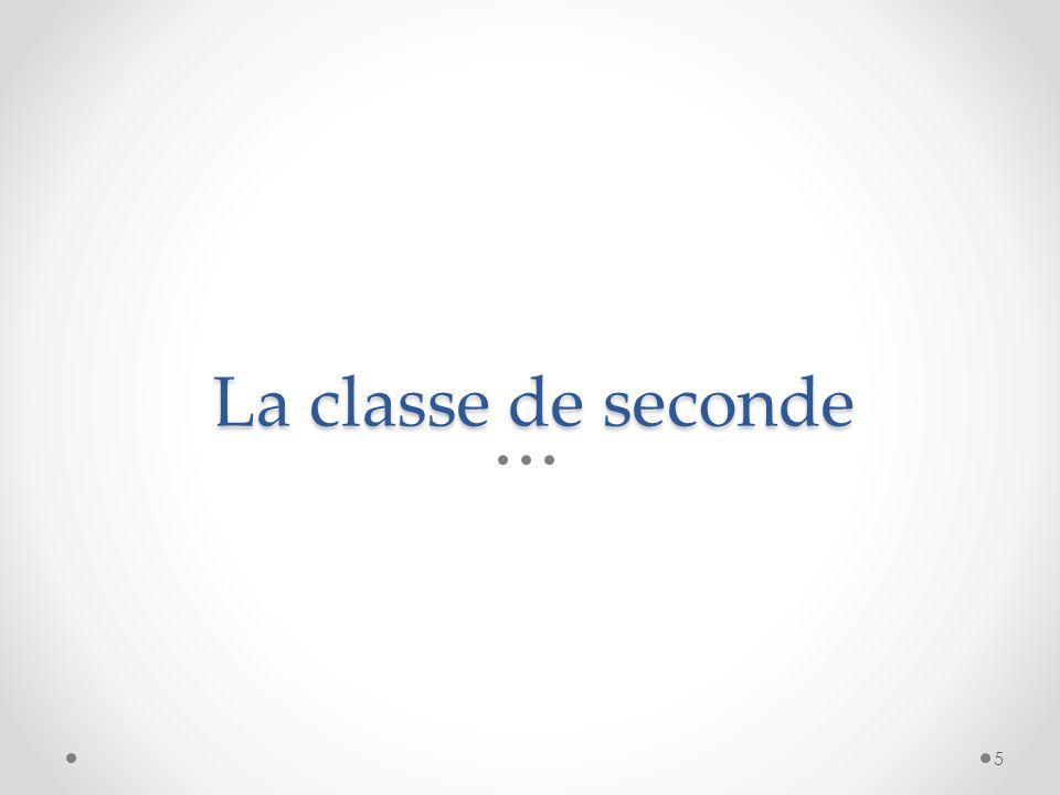 La classe de seconde 5