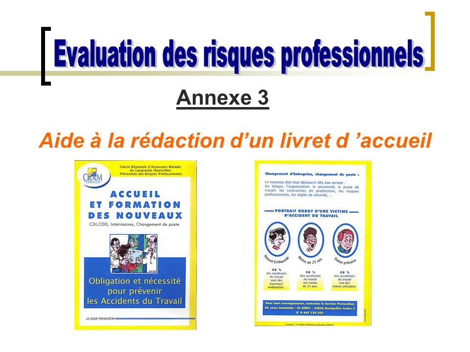 Annexe 3 Aide à la rédaction d'un livret d 'accueil