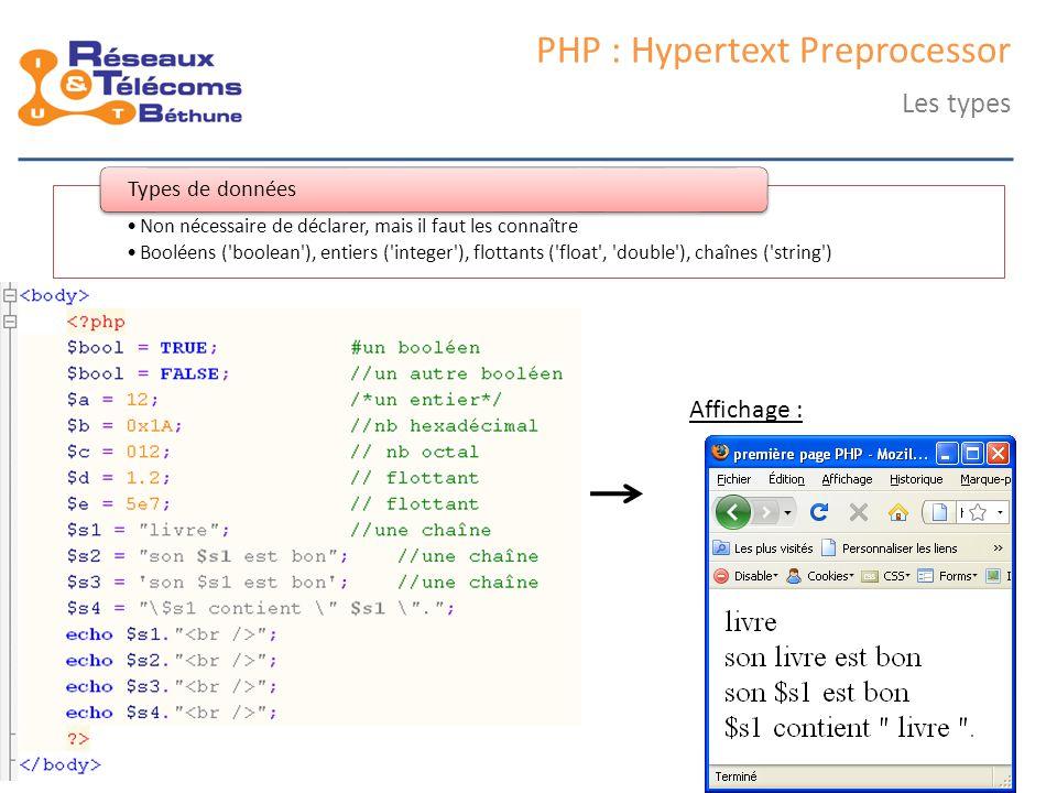 samedi 25 octobre 2014IC3 : cours 139 PHP : Hypertext Preprocessor Rappel : architecture 3 tiers Niveau 1 client Niveau 1 client Niveau 2 Serveur web Niveau 2 Serveur web Niveau 3 Données Niveau 3 Données HTTP HTML TCP (SQL) HTTP HTML/PHP Couche présentationCouche métierCouche accès aux données