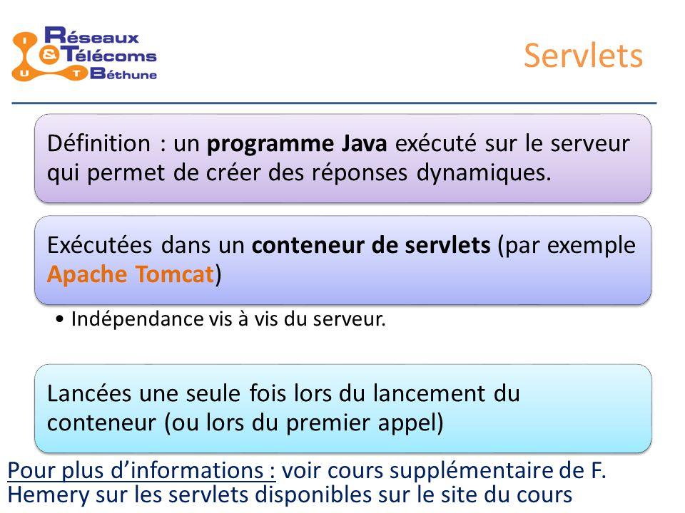 JavaServer Pages (JSP) Développement des servlets : fastidieux.