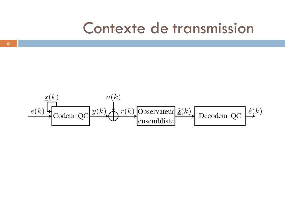 6 Contexte de transmission