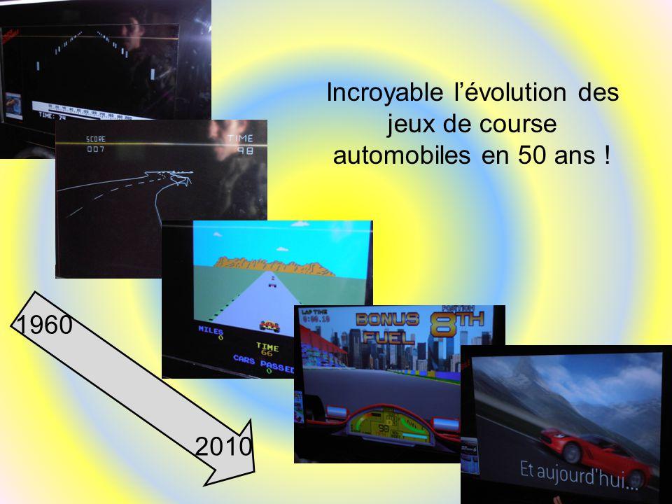 1960 2010 Incroyable l'évolution des jeux de course automobiles en 50 ans !