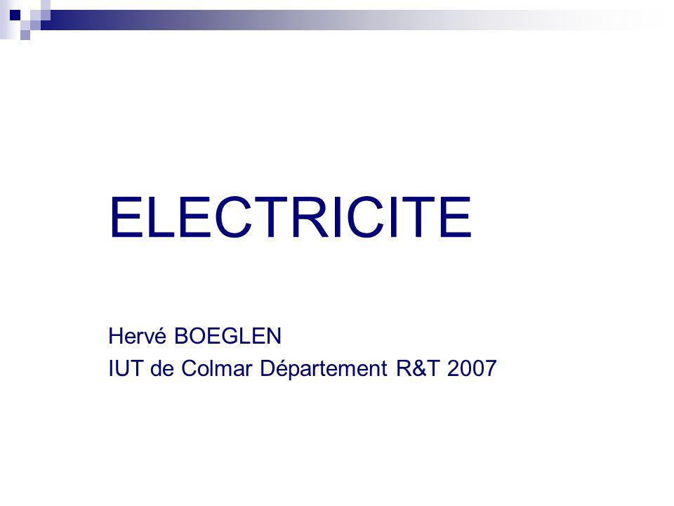 ELECTRICITE Hervé BOEGLEN IUT de Colmar Département R&T 2007