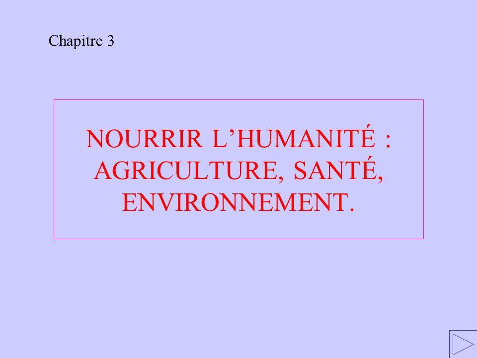 NOURRIR L'HUMANITÉ : AGRICULTURE, SANTÉ, ENVIRONNEMENT. Chapitre 3