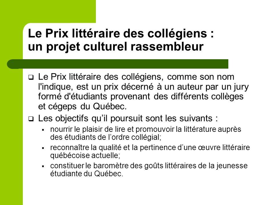 L'inspiration du Prix littéraire des collégiens : le Goncourt des lycéens Décerné depuis 1903, le Prix Goncourt cherche à récompenser chaque année «le meilleur ouvrage d imagination en prose».