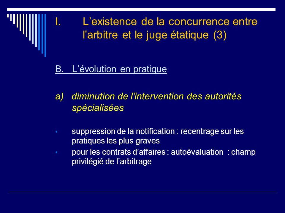 I.L'existence de la concurrence entre l'arbitre et le juge étatique (3) B.