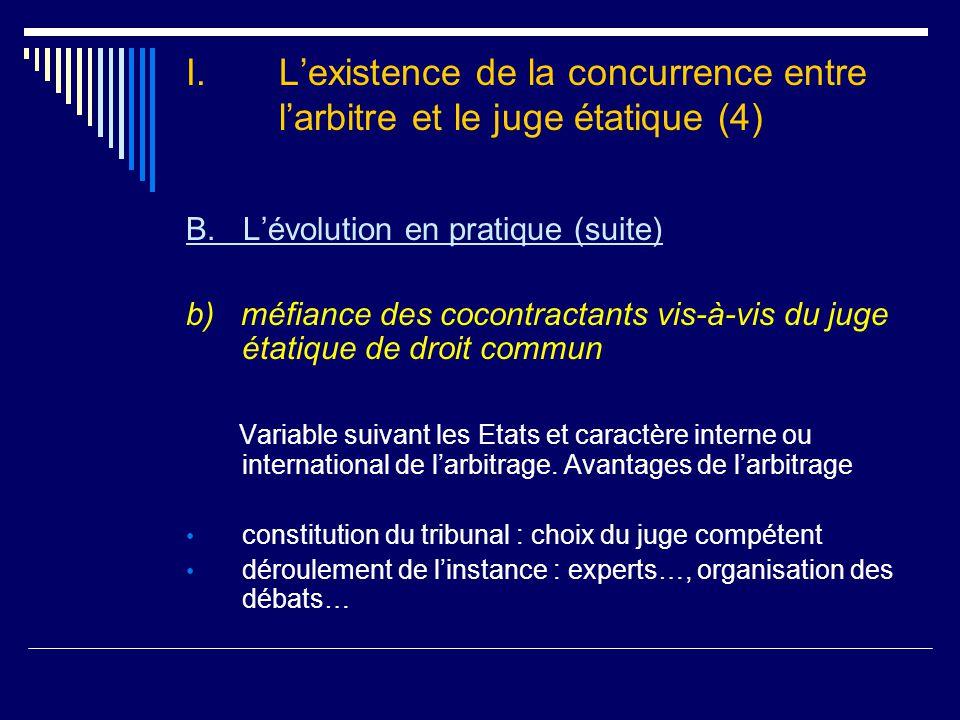 II.L'organisation de la concurrence entre l'arbitre et les « instances de concurrence » (1) A.