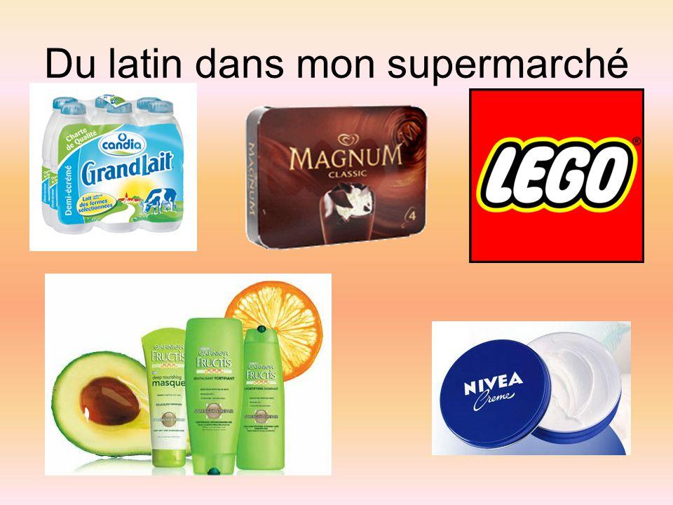 Du latin dans mon supermarché