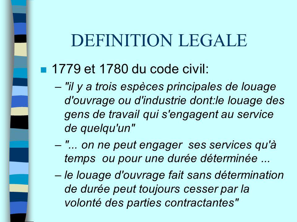 DEFINITION LEGALE n 1779 et 1780 du code civil: –