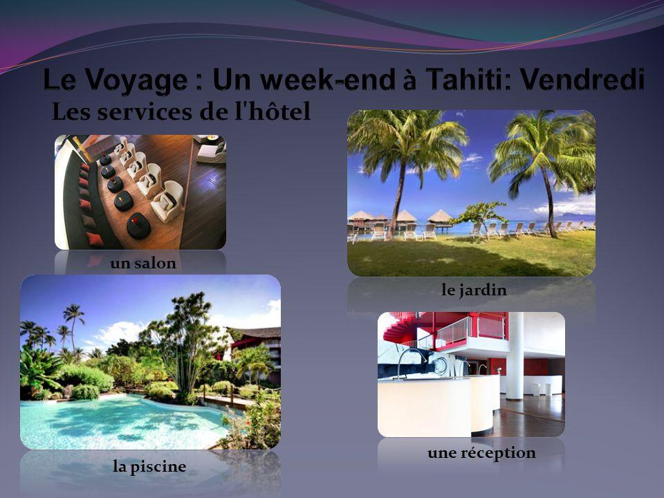 Les services de l hôtel un salon la piscine le jardin une réception