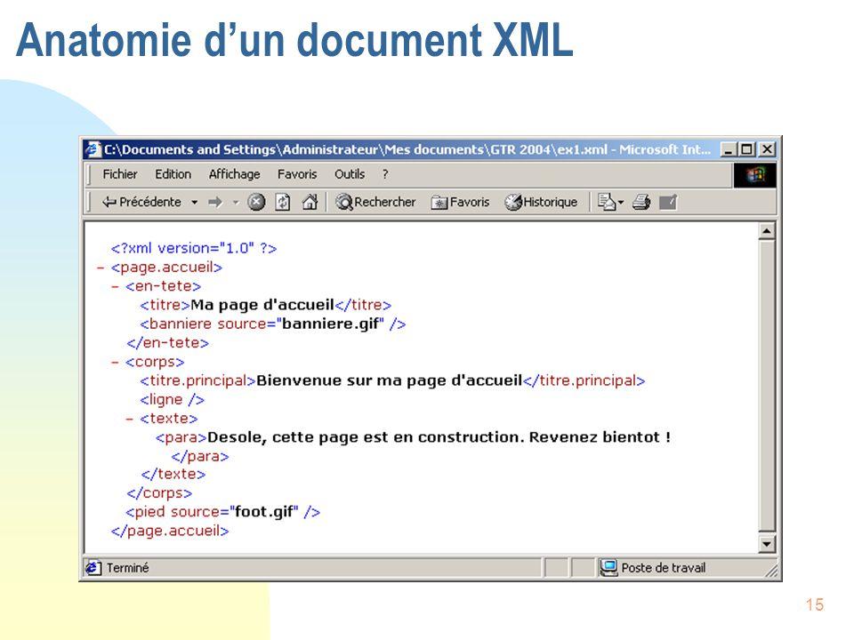 15 Anatomie d'un document XML