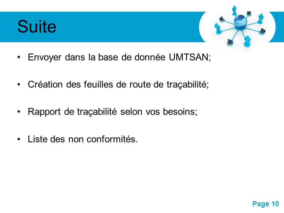 Pour plus de modèles : Modèles Powerpoint PPT gratuitsModèles Powerpoint PPT gratuits Page 10 Suite Envoyer dans la base de donnée UMTSAN; Création de