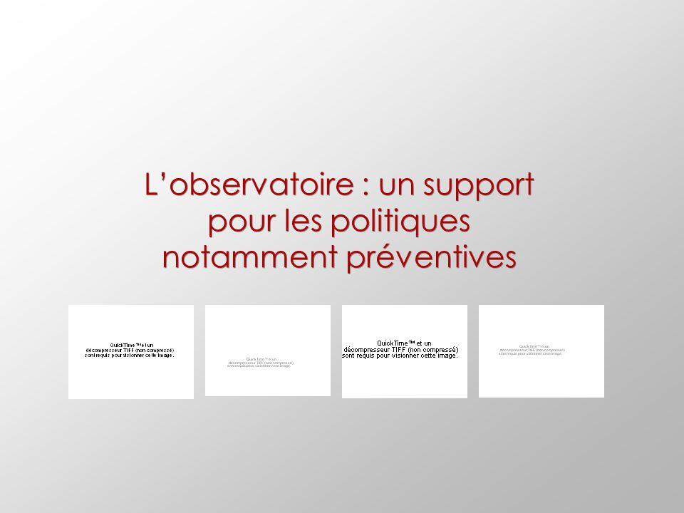 L'observatoire : un support pour les politiques notamment préventives