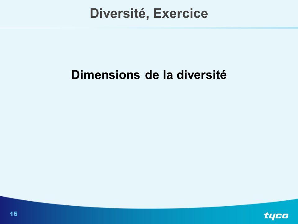 15 Diversité, Exercice Dimensions de la diversité