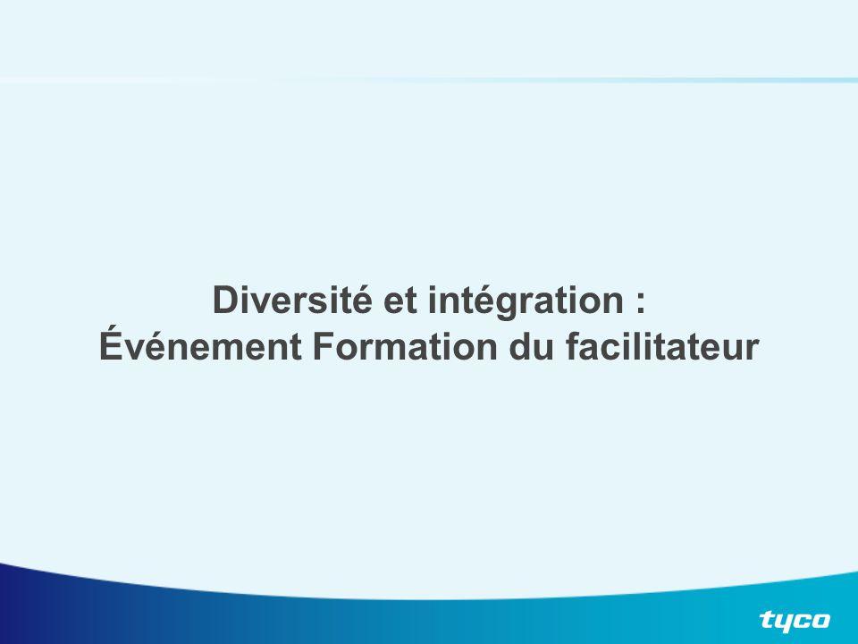 Diversité et intégration : Événement Formation du facilitateur