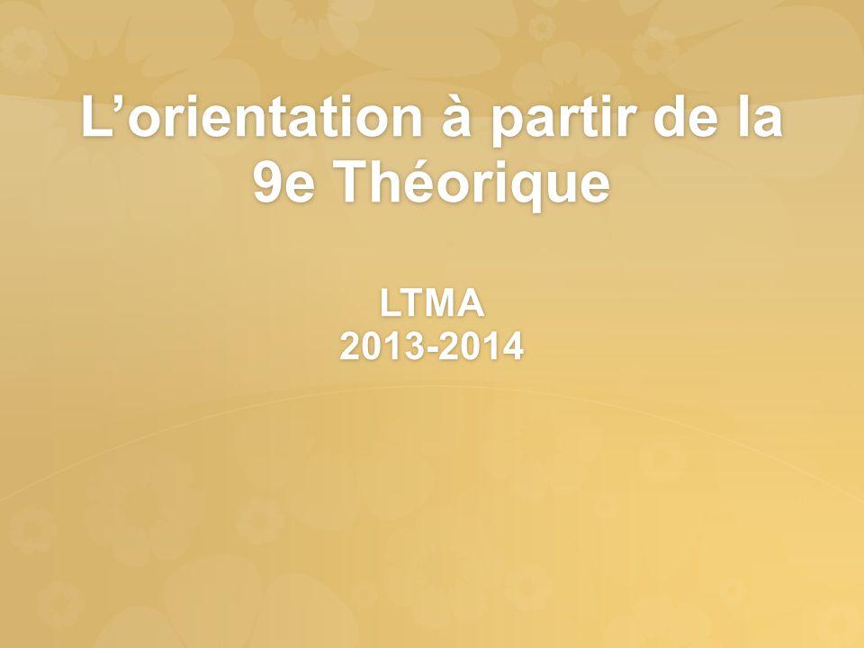L'orientation à partir de la 9e Théorique LTMA 2013-2014