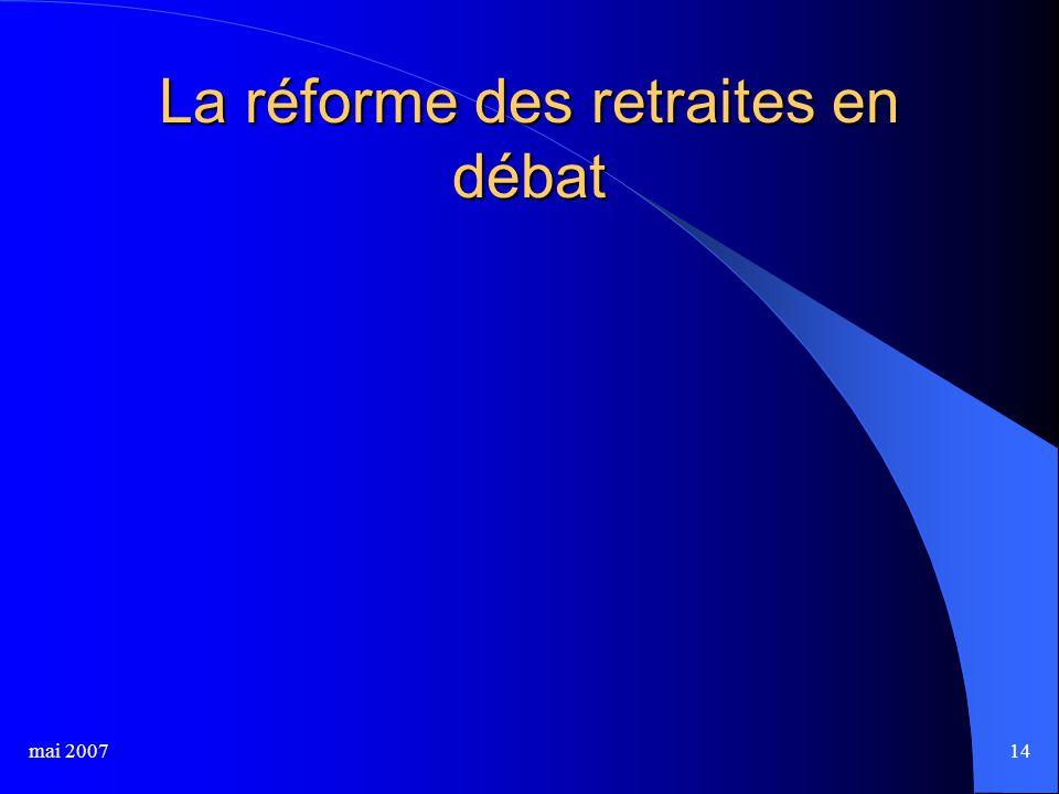 mai 200714 La réforme des retraites en débat