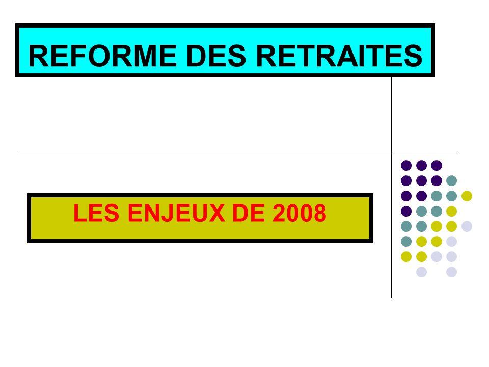 REFORME DES RETRAITES LES ENJEUX DE 2008