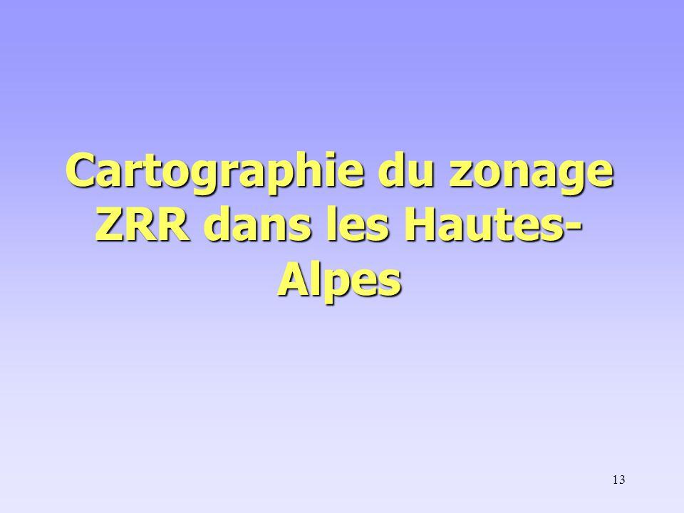 13 Cartographie du zonage ZRR dans les Hautes- Alpes