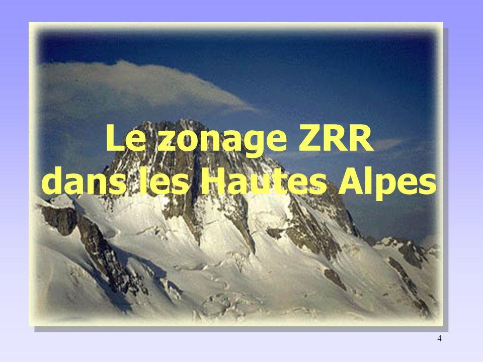 4 Le zonage ZRR dans les Hautes Alpes