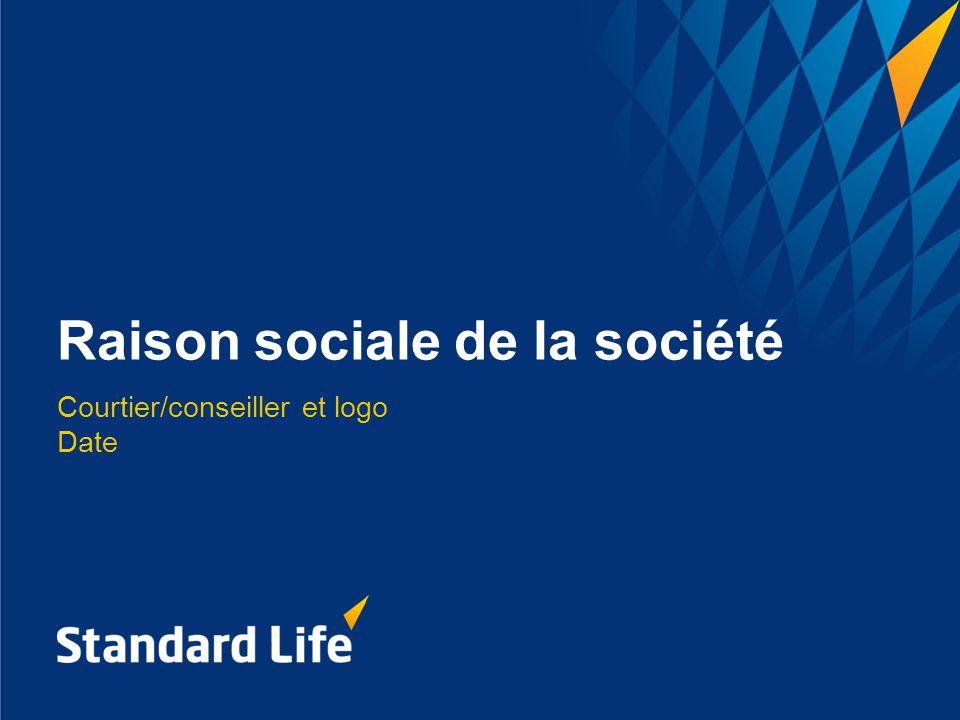 Raison sociale de la société Courtier/conseiller et logo Date