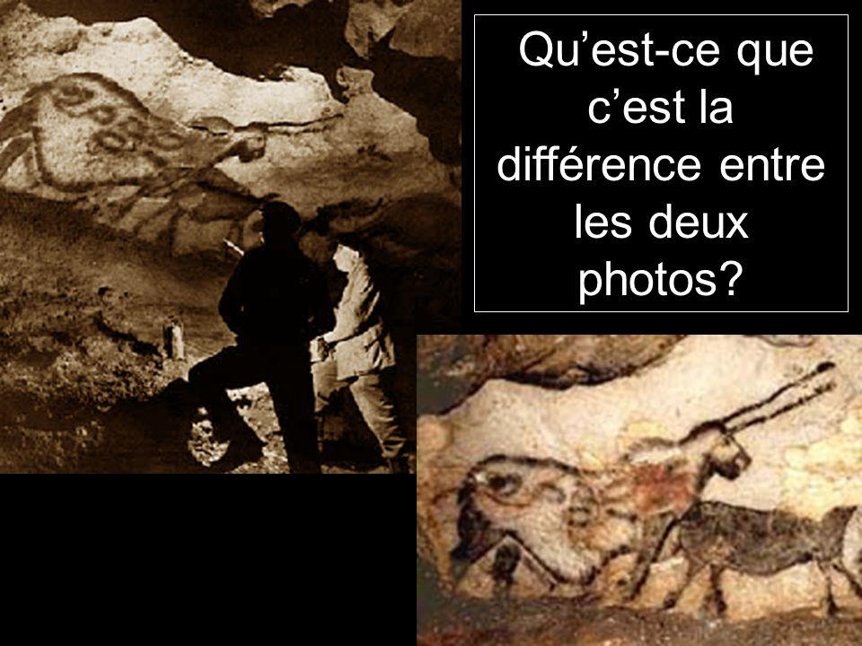 Qu'est-ce que c'est la différence entre les deux photos?