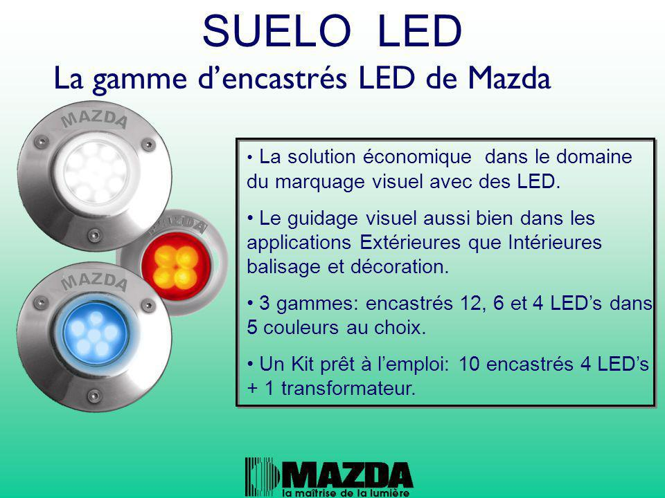 La gamme d'encastrés LED de Mazda La solution économique dans le domaine du marquage visuel avec des LED. Le guidage visuel aussi bien dans les applic
