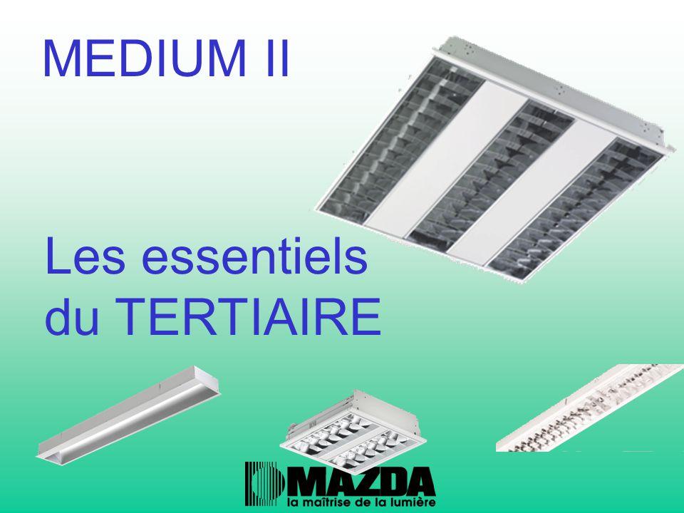 Une famille complète : -Medium II :encastré modulaire -Medium II AS :encastré asymetrique -Medium II LC :encastré ligne continue MEDIUM II